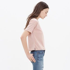 Madewell Blush Pink Cropped Tee